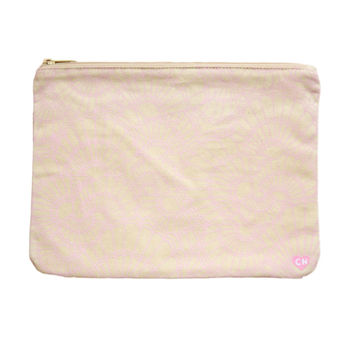 CAMERON HAWAII Large Clutch - Fanned Shells Baby Pink