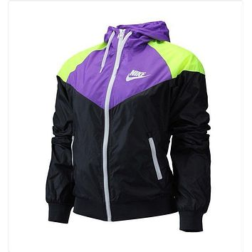 """NIKE""  Fashion Hooded Zip Sweatshirt Jacket Sport Cardigan Coat Windbreaker Sportswear"