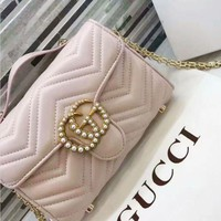 Gucci Women Shopping Leather Metal Chain Crossbody Shoulder Bag B-ZQXH-CJGFBB