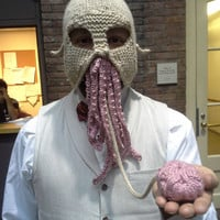 The Wild Ood from Doctor Who hat mask