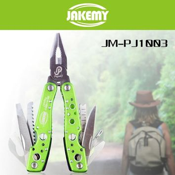 9 in 1Multitool Hiking Camping Tool Multifunctional Folding Tool Pliers Scaling Knife Slotted Cross Screwdriver Maintenance Tool