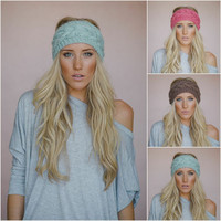 Knitted Headband Ear Warmer Gifts For Women's Hair Accessories