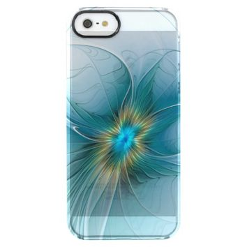 The little Beauty, Abstract Fractal Art with blue Clear iPhone SE/5/5s Case