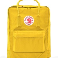 Fjallraven Kanken Durable Backpack Unisex Lovers' School Travel Bag( warm yellow)