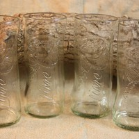 Drinking Glasses from Recycled Bud Light With Lime Beer Bottles, Upcycled Beer Bottle, Barware, Beer Bottle Drinking Glass, ONE glass