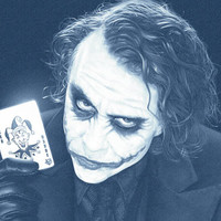 Joker Wall Art Laser Print Denim Poster