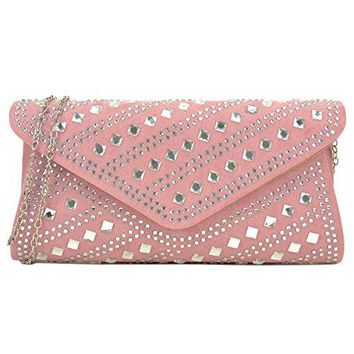 Dasein Rhinestone Evening Bag Glitter Clutch Purses Studded Envelope Shoulder Handbag Prom Party Bag