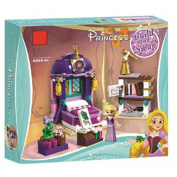 Lepin 25017 Best Friends For Girl Rapunzel Princess Castle Bedroom Building Blocks Set Toys Compatible LegoINGlys Friends 41156