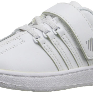 K-SWISS Classic VN Velcro Sneaker (Infant/Toddler/Little Kid/Big Kid) White/White Toddler (1-4 Years) 9.5 M US Toddler '