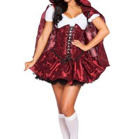 4pc Lusty Lil' Red Costume