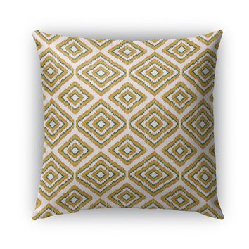 SUMATRA MUSTARD YELLOW Indoor|Outdoor Pillow By Becky Bailey