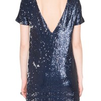 Gidget navy sequin dress