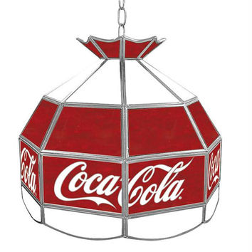 Coca Cola Vintage 16 Inch Stained Tiffany Lamp