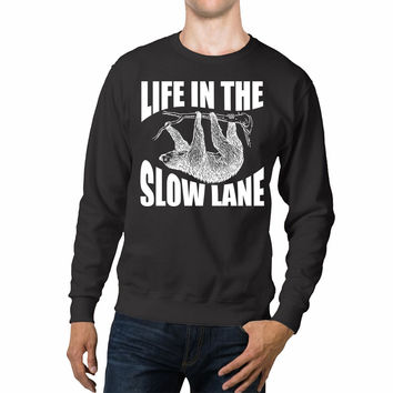 Life In The Slow Lane Sloth Lovers Unisex Sweaters - 54R Sweater