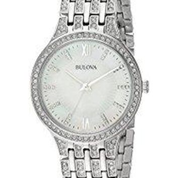 Women's 96L242 Swarovski Crystal Stainless Steel Watch