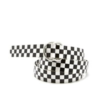 Checkered D Ring Belt