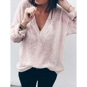 Plus size s-5xl women sweater thin pullover V Neck loose casual 2018 early Autumn sweaters pullover female clothing WS9404R