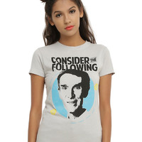 Bill Nye The Science Guy Consider The Following Girls T-Shirt