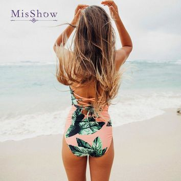 Middle Waist Flower Print One Piece Swimsuit 2018 New Swimsuit Plus Size Women Vintage Lengthen Body Classical Women Swimwear