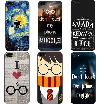 Avada Kedavra Bitch Dhl Hogwarts Harry Potter Design Hard Phone Cases Cover For iPhone SE 5S 5 6 6SPlus 7 7 Plus 8 8 Plus X 10