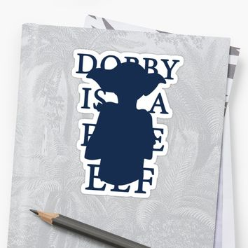 'Dobby is a Free Elf' Sticker by Tess Peterson