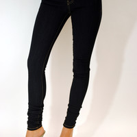(anv) Supestretch dark wash high waist jeans