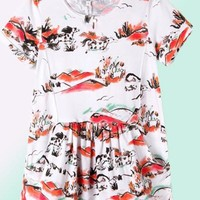 Organic Cotton Dress Annabelle - kids 3 to 6 y.o.
