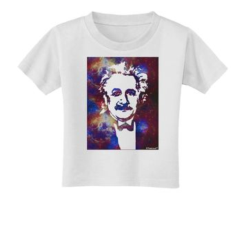 Cosmic Galaxy Einstein Toddler T-Shirt by TooLoud