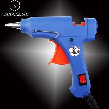 Scheppach 20W  EU Plug Hot Melt Glue Gun Industrial Mini Guns Thermo Electric Gluegun Heat Temperature Tool Graft Repair DIY