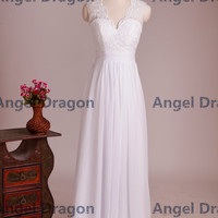 Angel Dragon Hot Bridesmaid Lace White Bridesmaid Dresses