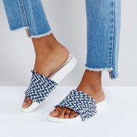 Kaltur Blue Detail Slider Sandals at asos.com