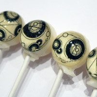 Gallifreyan edible images hard candy by VintageConfections on Etsy