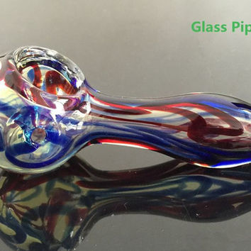 Glass Spoon Pipes For Smoking colorful Bong for sale tobacoo pipes weed pipes glass pipes free Shipping