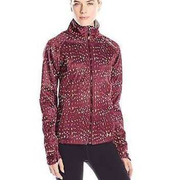 Under Armour Women's ColdGear Infrared Softershell Jacket, Ox Blood/Cyber Ora...