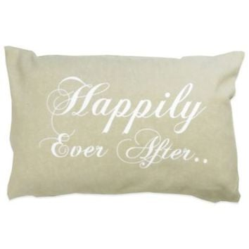 """The Vintage House by Park B. Smith® """"Happily Ever After"""" Oblong Throw Pillow"""