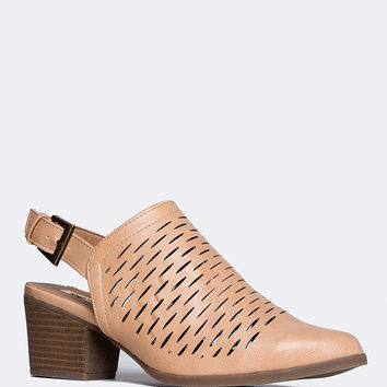 Perforated Slingback Sandal
