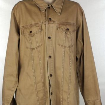 The King Size Co. For Tall Big Men Size XL Carmel Two Chest Pockets Long Sleeves