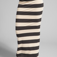 Free People Stripe Column Convertible Skirt/Dress in Black/Tan Combo from REVOLVEclothing.com