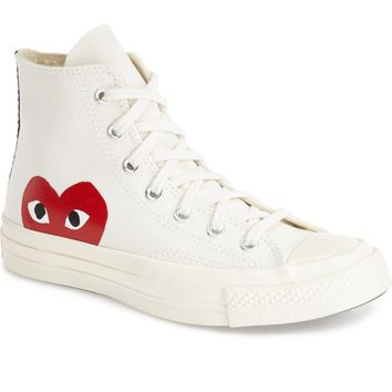 Comme des Garçons PLAY x Converse Chuck Taylor® - 'Hidden Heart' High Top Sneaker (Men) | Nordstrom