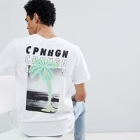 Jack & Jones Originals T-Shirt With Fluro Back Graphic at asos.com