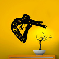 Wall Decals Vinyl Sticker Decal Home Decor Art Murals Girl Jumping into the Freedom Bedroom Dorm NA218