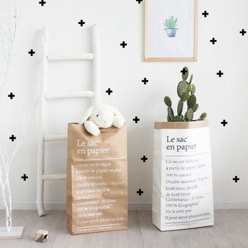 Double Layers Kraft Paper Storage Bag Plants Flowers Bags Shopping Bag Toys Books Sundries Organizer