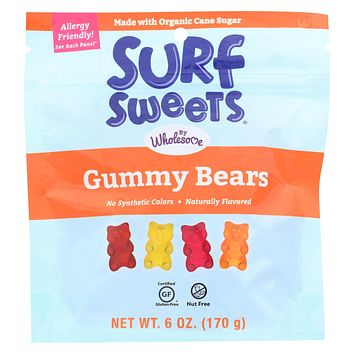 Surf Sweets Candy - Gummy Bears - Case Of 6 - 6 Oz