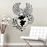 Wall Decal Anchor Eagle Earth Nautical Vinyl Sticker Navigation Home Interior Design Art Wall Murals Bedroom Decor NS686