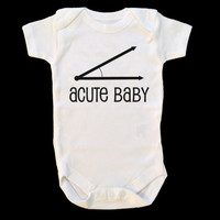 Acute Baby - Math Humor, Geeky Baby Onepiece, Funny Infant Outfit, Humorous Toddler Shirt, Teacher Gift, Minimalist Design, Youth Jumpsuit