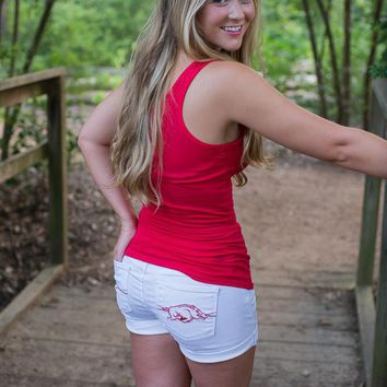 Arkansas Razorback Cuffed Shorts