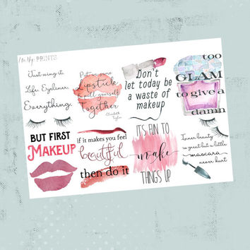 Inspirational planner stickers, motivational planner stickers, flower stickers, adulting planner stickers (#0212)