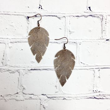 Pop'n Leather Earrings Fun Shaped Collection