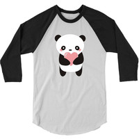 Hawaii Panda Love 3/4 Sleeve Shirt