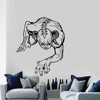 Wall Stickers Vinyl Decal Zombie Vampire Demon Scary Gothic Decor (z2130)